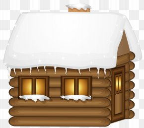 Winter Wooden House Clip-Art Image - House Winter Clip Art PNG