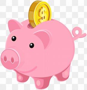 Piggy Bank Clip Art Image - Piggy Bank Coin Clip Art PNG