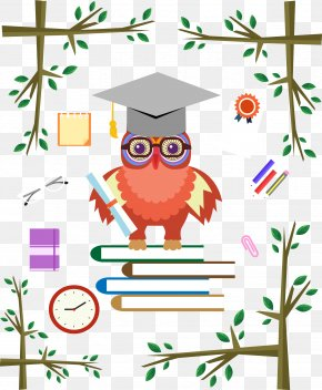 Owl With Bachelor Cap - Bachelors Degree Academic Degree Clip Art PNG