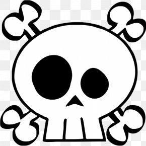 Funny Skull - Calavera Skull And Crossbones Human Skull Symbolism Clip Art PNG