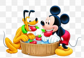 Mickey Mouse And Pluto Transparent Image - Mickey Mouse Pluto Minnie Mouse Goofy Donald Duck PNG
