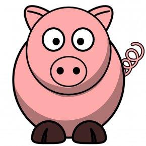Pig - Domestic Pig Piglet Cartoon Clip Art PNG