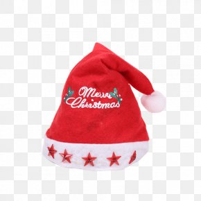 Red Five-pointed Star Christmas Hats - Hat Pentagram Christmas Red Star PNG