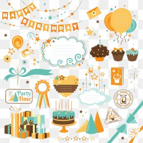 Birthday Elements - Birthday Cake Illustration PNG