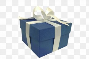 Gift Box - Gift Decorative Box Paper Blue PNG
