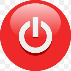 Red Power Button Symbol Icon - Push-button Clip Art PNG