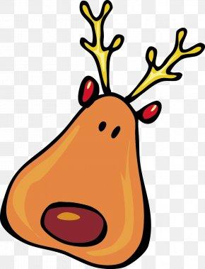 Christmas Elk Elements Png - Rudolph Santa Claus's Reindeer Santa Claus's Reindeer Clip Art PNG