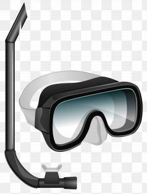 Transparent Snorkel Mask Clipart - Diving Mask Snorkeling Scuba Diving Cressi-Sub PNG