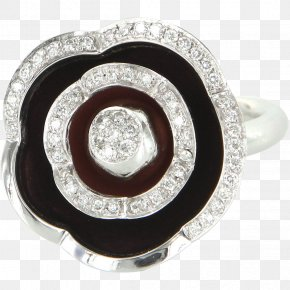 Flower Ring - Jewellery Ring Vitreous Enamel Diamond Gold PNG