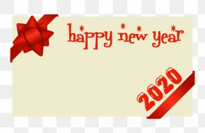 Present Greeting - Happy New Year 2020 PNG