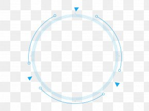 Technology Sense Of Line Material - Blue Circle Pattern PNG