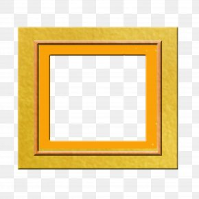 Orange Frame - Picture Frame Yellow Area Pattern PNG