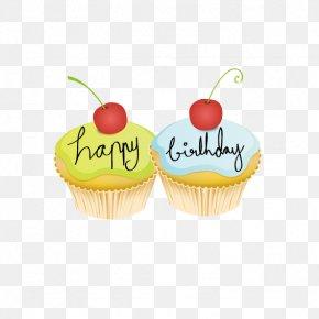 Small Cherry Birthday Cake - Birthday Cake Cupcake Wedding Invitation Happy Birthday To You PNG