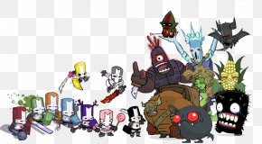 Abstract Characters - Castle Crashers Display Resolution Video Game Download Desktop Wallpaper PNG