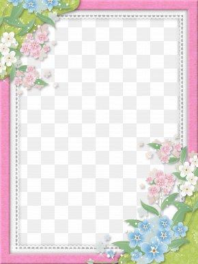 Pink Flower Frame Image - Picture Frame Image File Formats PNG