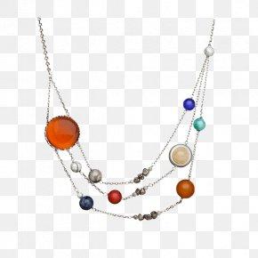 Necklace - ThinkGeek Solar Orbit Necklace ThinkGeek Inc. Solar System Jewellery PNG