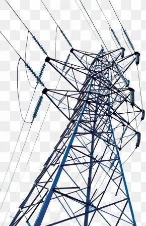 High-voltage Wire Tower - High Voltage Transmission Tower Electric Power Transmission Wire PNG