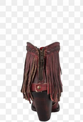 Boot - Boot Fringe Leather Heel Pinto Ranch PNG