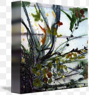 Painting - Floral Design Watercolor Painting Modern Art Gallery Wrap PNG