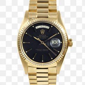 Rolex - Rolex Mechanical Watch Gold Eco-Drive PNG