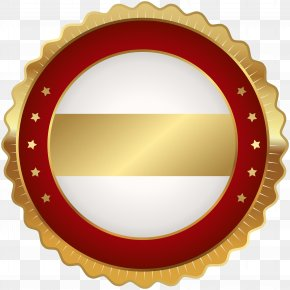 Seal Badge Red Gold Clip Art Image - Badge Clip Art PNG