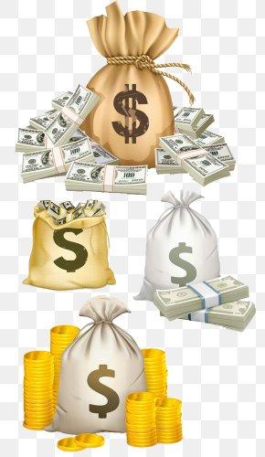 Dollar Purse Bag - Money Bag United States Dollar PNG