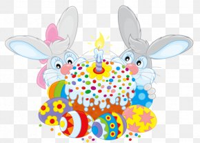Rabbit - Rabbit Easter Bunny Happy Easter! Easter Cake Clip Art PNG