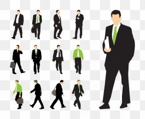 Vector Businessman Walking - Businessperson Corporation PNG