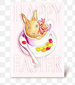 Greeting Card Paper Product - Easter Bunny Background PNG
