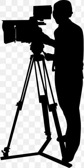 Film Producer Blackandwhite - Camera Silhouette PNG