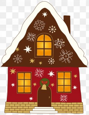 Christmas Painted House Clipart - Greeting Card Christmas Card Santa Claus PNG