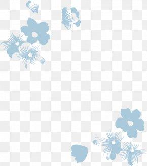 Lace - Blue Flower Wallpaper PNG