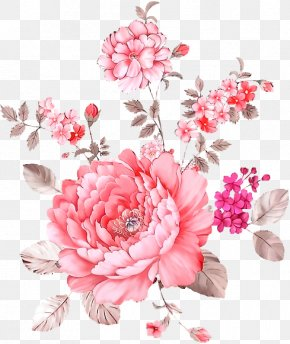 Creative Watercolor Flowers - Rose Floral Design Flower Watercolor Painting PNG