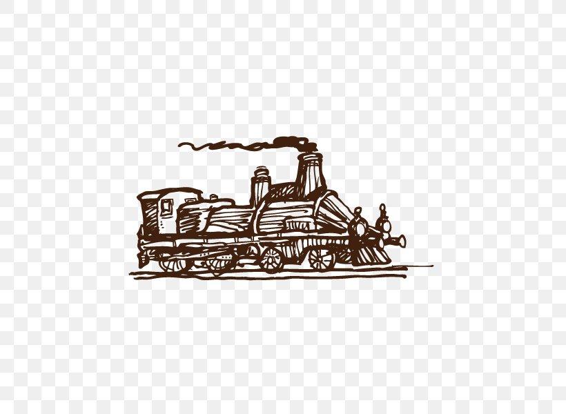 Train Steam Locomotive Euclidean Vector, PNG, 600x600px, Train, Black And White, Brand, Steam, Steam Locomotive Download Free