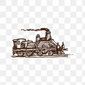 Train,steam Train,Retro - Train Steam Locomotive Euclidean Vector PNG