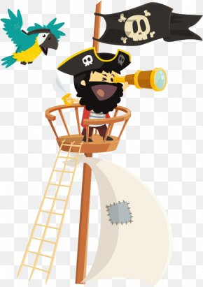 Vector Pirate Telescope - Piracy Photography Illustration PNG