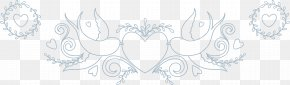 Creative Hand-painted Love - Black And White Pattern PNG