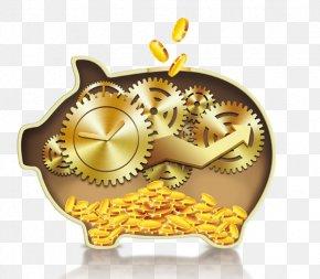 Golden Pig - Domestic Pig Creativity PNG