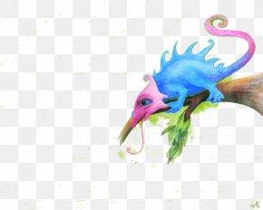 Creative Cartoon Chameleon Image - Digital Art Illustration PNG