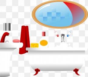 Vector Wash Basin With Bathtub - Sink Bathroom Bathtub Mirror PNG