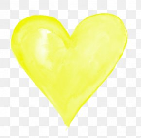 Yellow Heart Transparent - Yellow Download Color PNG