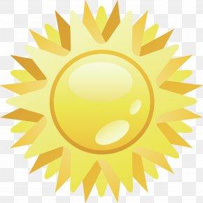 Sun Vector Element - Golden Sun Sunlight Euclidean Vector PNG