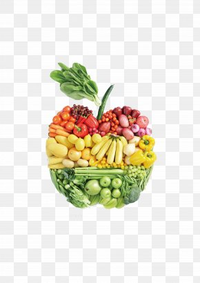 Apple Composed Of Fruits And Vegetables - Organic Food Local Food Meal Health Food PNG