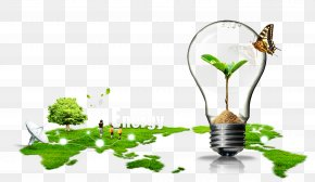 Energy Saving Ecological Greening - Earth Energy Conservation PNG
