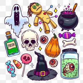 Halloween Theme - Halloween Cartoon Illustration PNG
