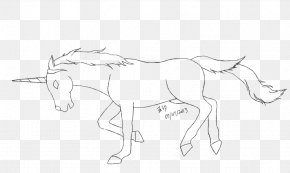 Unicorn Head - Mustang Mule Pony Pack Animal Drawing PNG