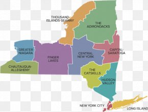 New York City Map - New York City Upstate New York Central New York Region Finger Lakes Adirondack PNG