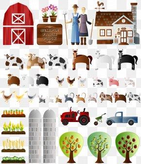 Barn - Paper Model Silo Farm Collage PNG