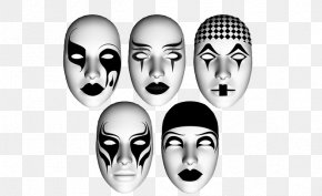 Black And White Horror Mask - Mask Black And White PNG