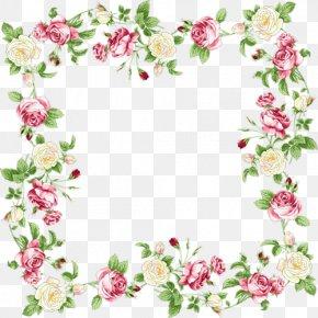 Flowers Frame - Flower Wedding Invitation Floral Design Clip Art PNG